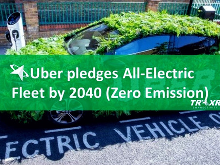 Uber pledges All-Electric Fleet by 2040 (Zero Emission)
