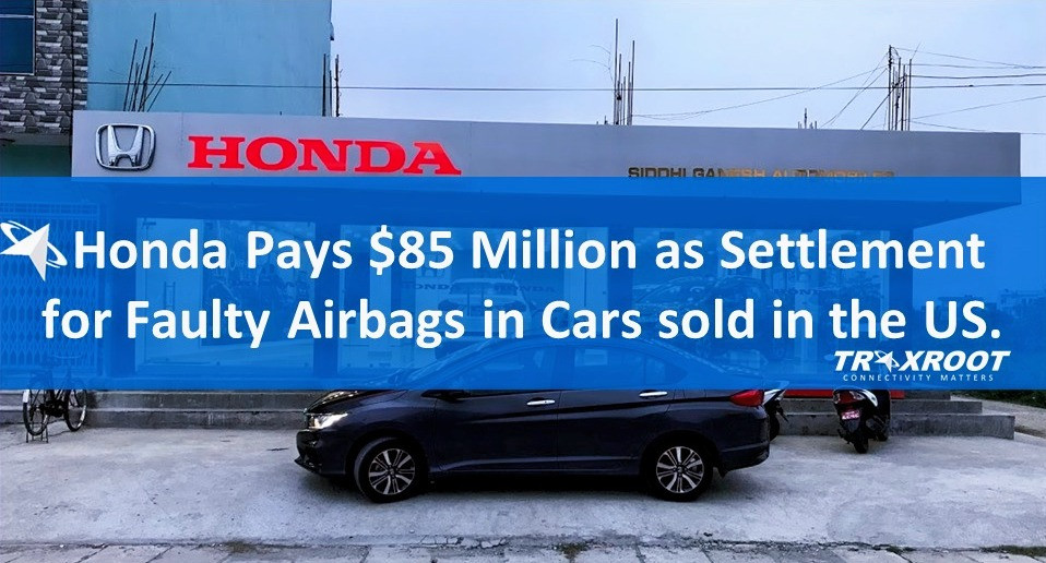 Honda Pays $85 Million as Settlement for Faulty Airbags in Cars sold in the US