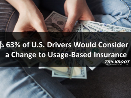 63% of U.S. Drivers Would Consider a Change to UBI (Usage-Based Insurance)