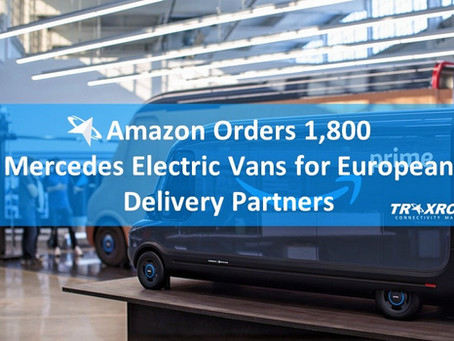 Amazon Orders 1,800 Mercedes Electric Vans for European Delivery Partners