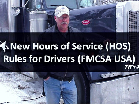 New Hours of Service (HOS) Rules for Drivers (FMCSA USA)