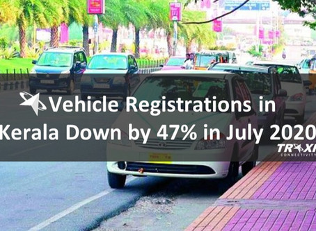 Vehicle Registrations in Kerala Down by 47% in July 2020