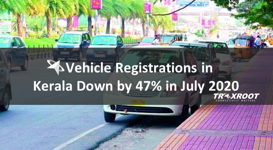 Vehicle Registrations in Kerala Down by 47% in July 2020