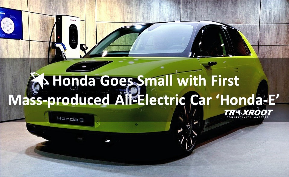 Honda Goes Small with First Mass-produced All-Electric Car Honda-E
