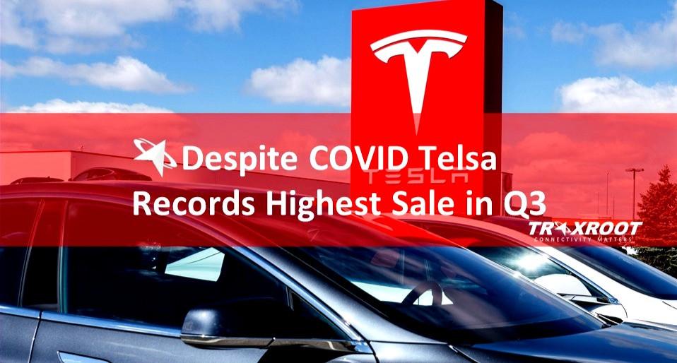 Despite COVID Telsa Records Highest Sale in Q3