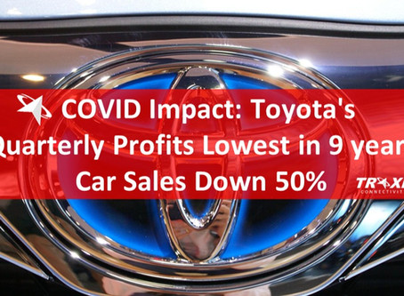 COVID Impact: Toyota's Quarterly Profits Lowest in 9 years, Car Sales Down 50%