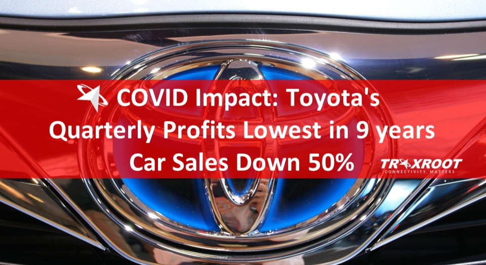 Toyota's Quarterly Profits Lowest in 9 years, Car Sales Down 50%