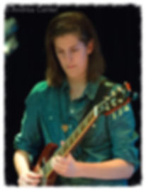 Claire Altendahl, lead guitarist in Cedar Creek Band