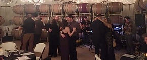 People dancing at James Dahl performance
