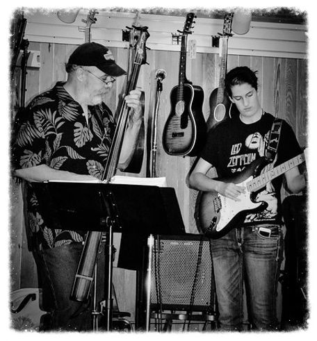Cedar Creek Band's Bob Pallansch and Claire Altendahl perform at the Underground Music Cafe