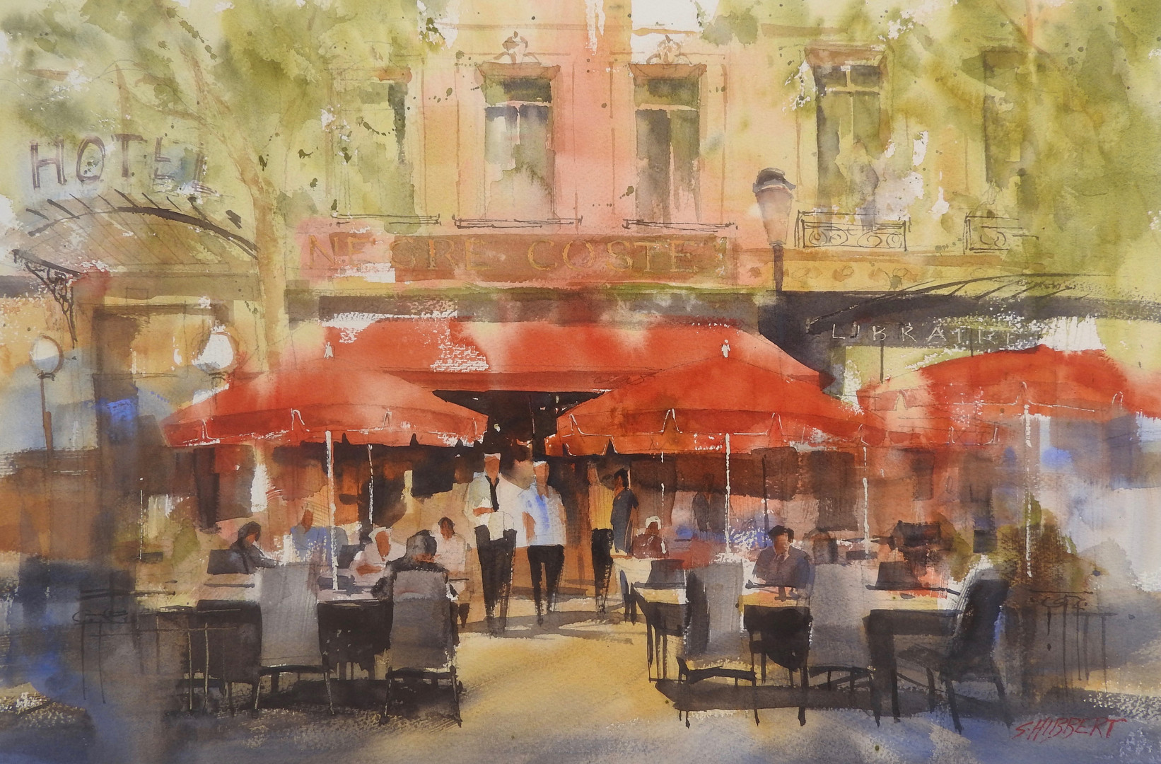 Cafe in Aix-en-Provence, sold