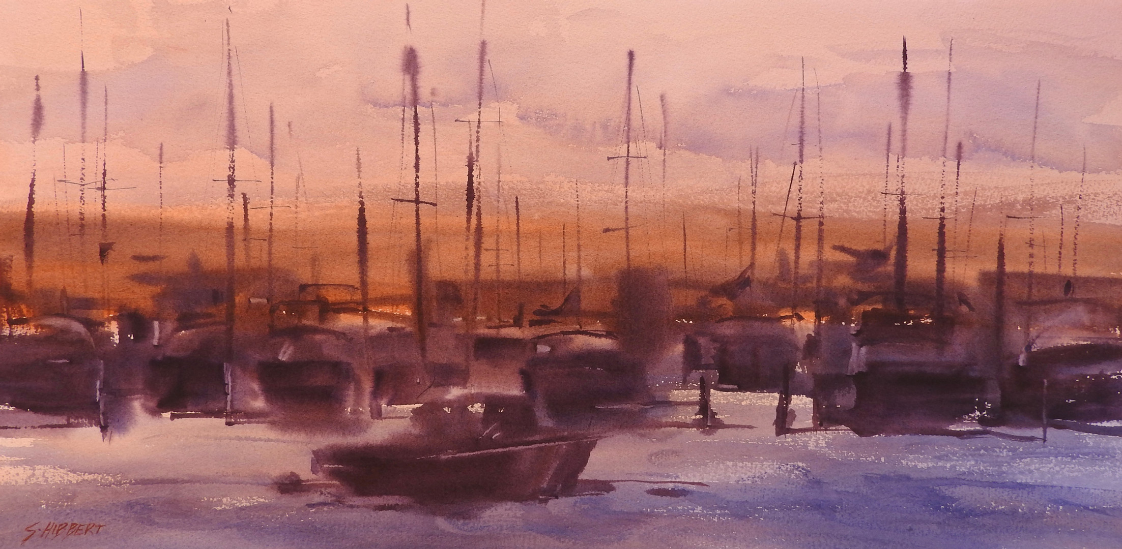 Moorings at Dawn, sold