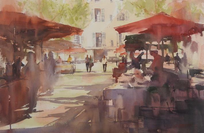 Market Day in Aix-en-Provence, sold