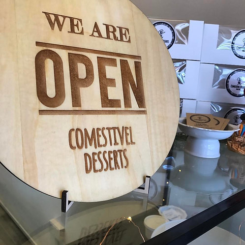 Customised Business Name , Open and Closed Sign
