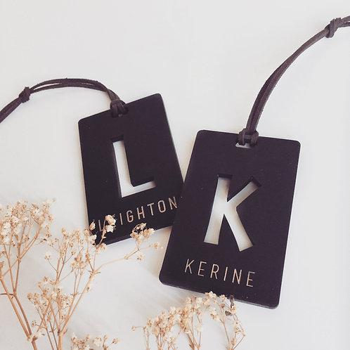 Customised Name KeyTag KeyChain Luggage Acrylic