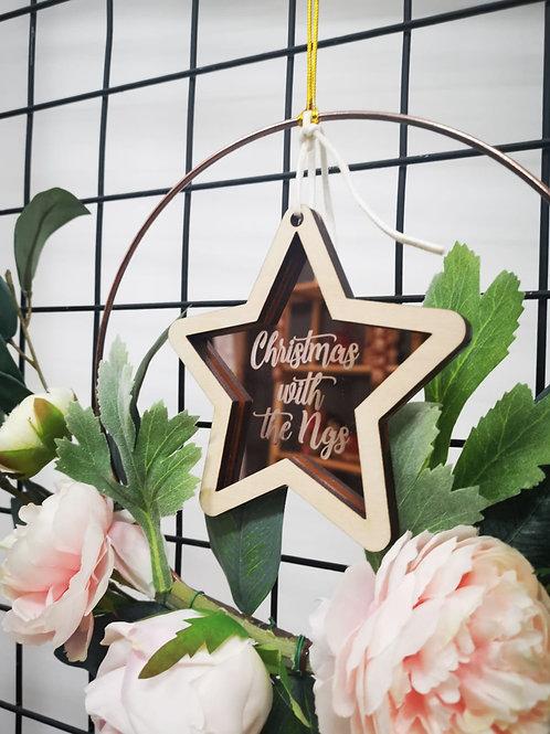Christmas Star on wreath