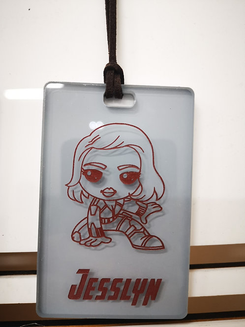 Chibi Black Widow Tag