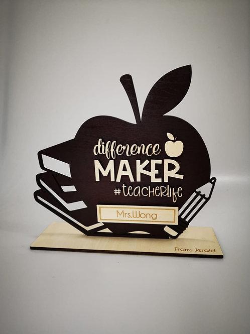 Teacher's Day Apple Plaque
