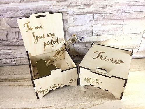 Personalised Lovebird Couple Gift Box