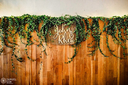 Customised Wooden Couple Names Sign