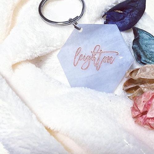 Customized Marble Acrylic Keychains