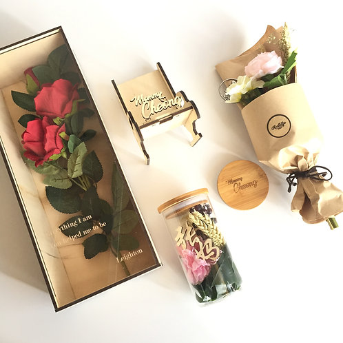 Mother's Day Rose Box w Message