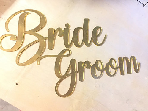 Bride & Groom Decor