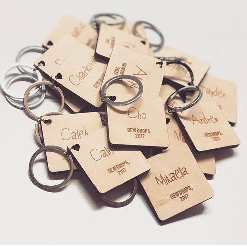 Mini Gifting Wooden Name Keychain