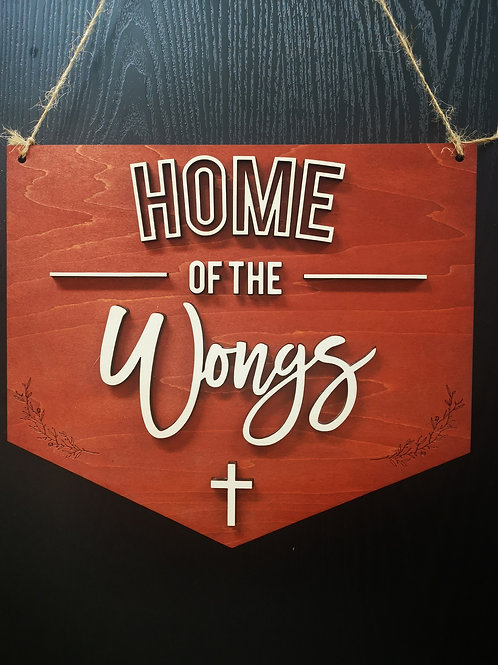 Wood Style Family Sign