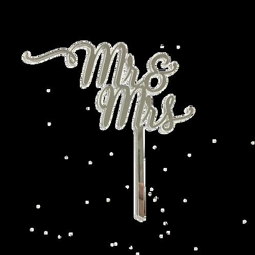 Mr & Mrs Mirror Acrylic Topper