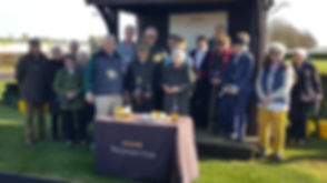 Prize giving at Wincanton