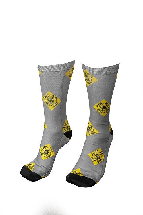 Clean Sets Save Lives Socks