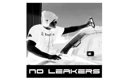 EQ No Leakers Sticker B/W