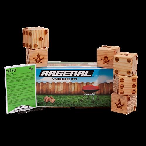 Handmade Arsenal Yard Dice Game Kit