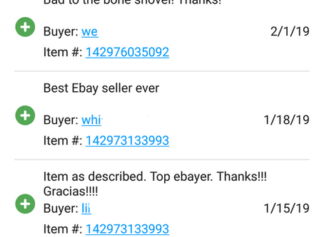 Excellent Feedback on eBay