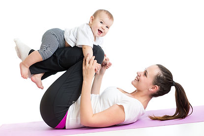 bigstock-Mother-With-Baby-Doing-Gymnast-