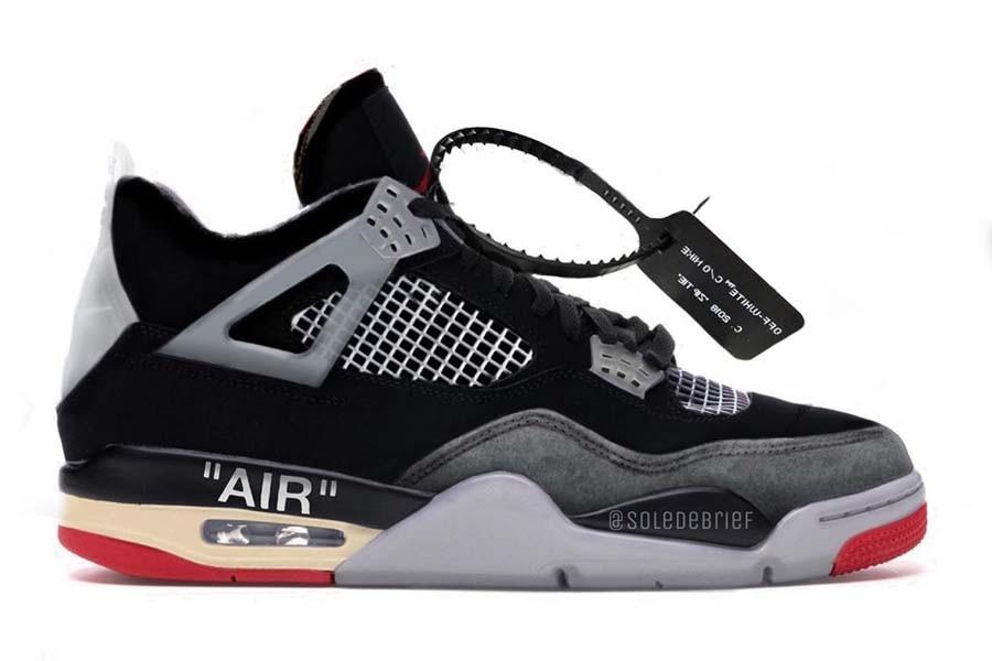 Off White Air Jordan 4 Retro 'Bred'