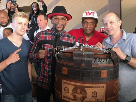 MONEY MAYWEATHER AND EDEN'S GRODEX BOXING  BAGS