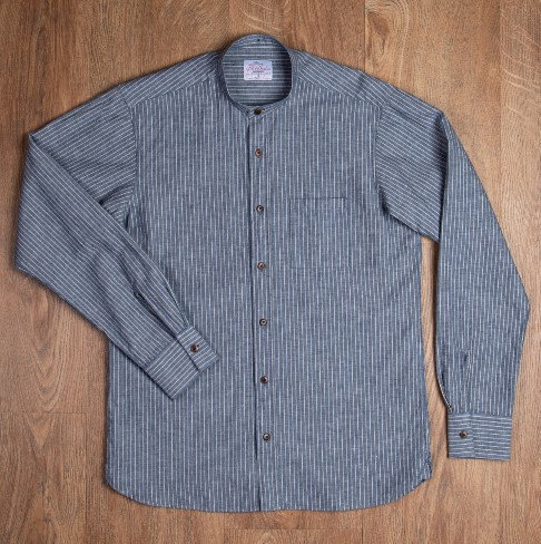 """Chemise Col Droit 1923  Bleu gris """"Pike Brothers"""""""