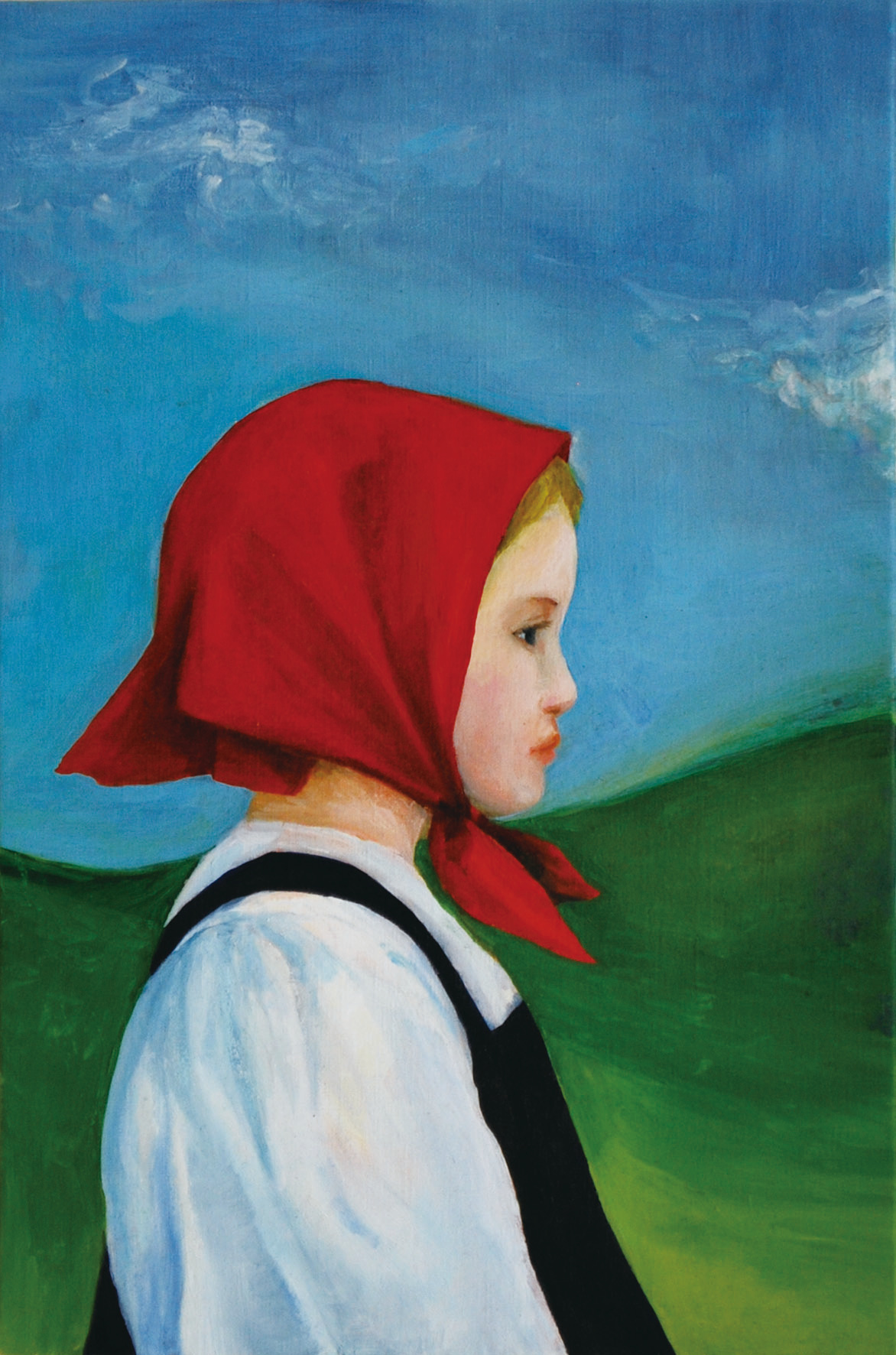 「赤いスカーフの少女」鶴井かな子