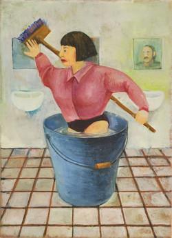 「トイレ掃除」鶴井かな子