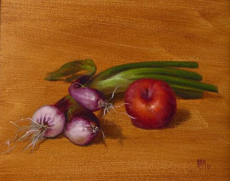 Spring Onions & Plum