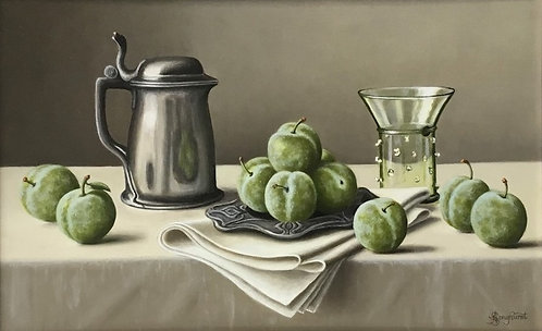 Pewter Tankard with Greengages