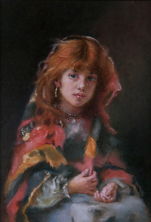 Portrait Of A Young Girl - After Harlamoff