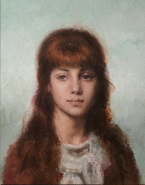 Miniature Portrait Of A Young Woman - After Harlamoff