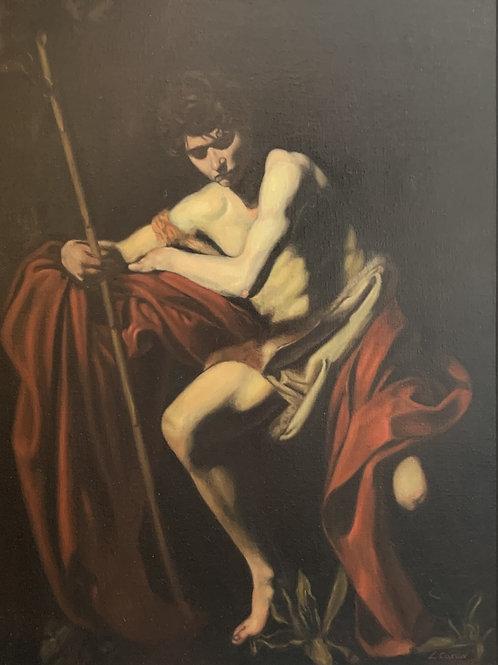 Master Copy of Caravaggio's St. John The Baptist