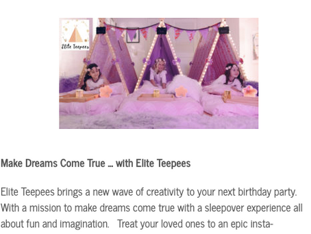 San Diego Moms Blog features Elite Teepees