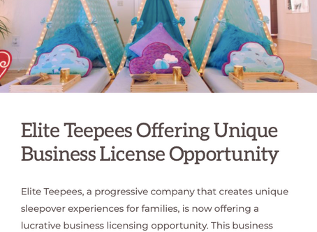 PowerHomeBiz features Elite Teepees Unique Business License Opportunity