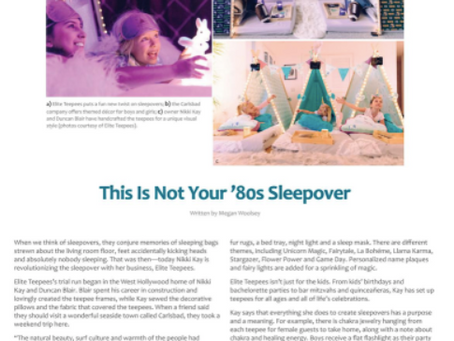Carlsbad Magazine: This Is Not Your '80s Sleepover