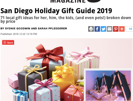 San Diego Magazine features Elite Teepees